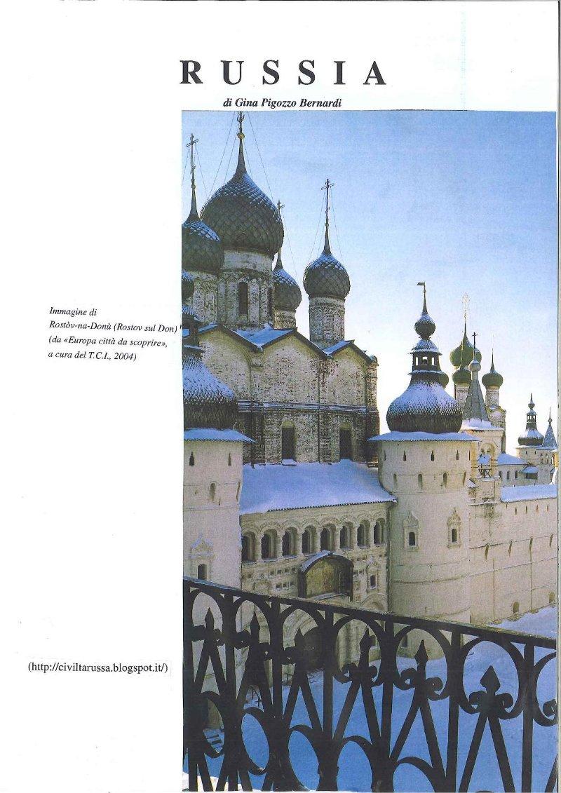 Russia - Antologia e storia della civiltà russa